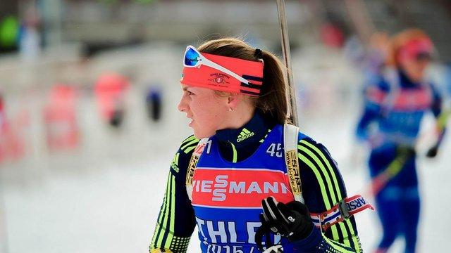 Українська біатлоністка відіграла 32 позиції у гонці переслідування