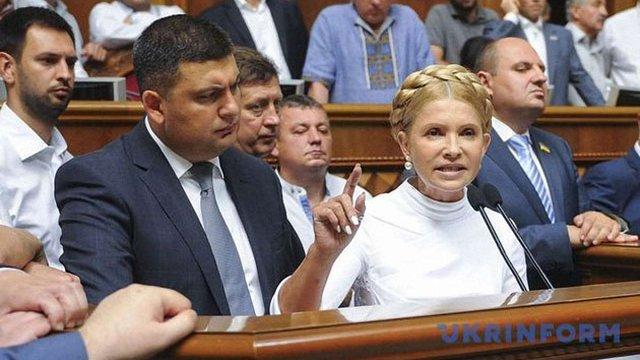 Суд відхилив позов Юлії Тимошенко до прем'єр-міністра Гройсмана
