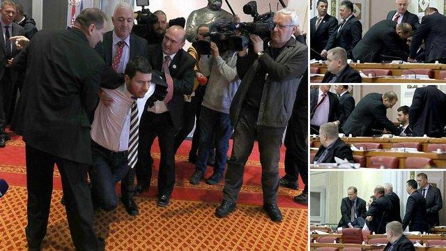 У Хорватії силою виштовхали з парламенту проросійського депутата