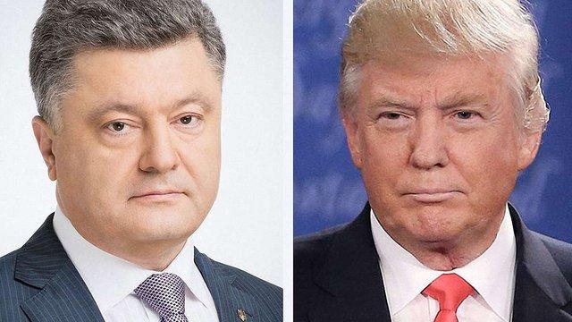 Петро Порошенко привітав Дональда Трампа з інавгурацією