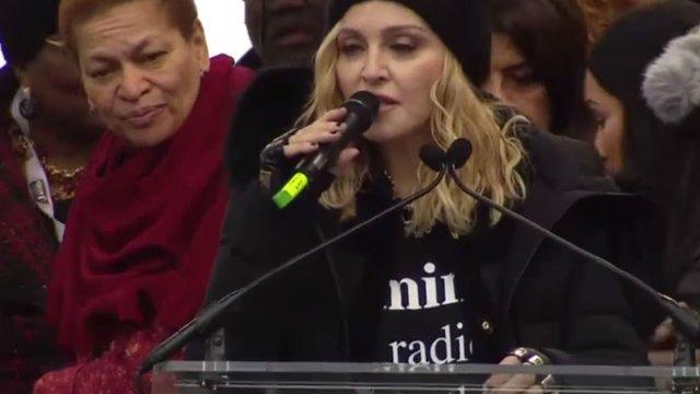 Мадонна різко розкритикувала політику Дональда Трампа у Вашингтоні