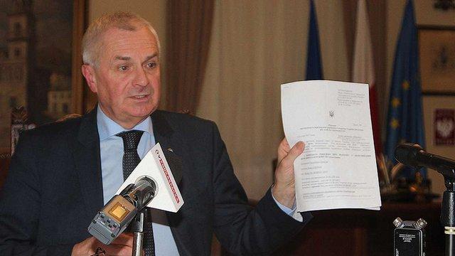 СБУ скасувала мерові Перемишля заборону на в`їзд в Україну