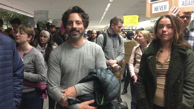 Засновник Google прийшов на мітинг проти імміграційного указу Трампа
