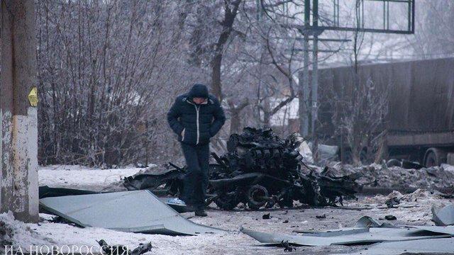 Бойовики намагалися видати вибух вантажівки за обстріл Донецька українською ракетою