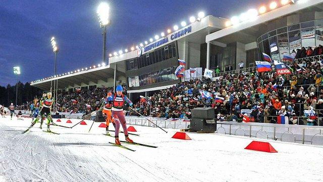В Росії відібрали право проведення чемпіонату світу з біатлону