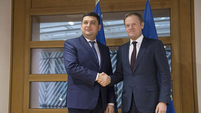 Президент ЄР зустрівся з Гройсманом і підтримав продовження санкцій проти РФ