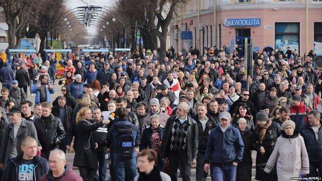 У Білорусі продовжилися протести проти «декрету про дармоїдів»