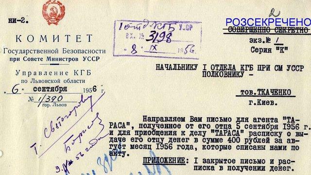 Українська розвідка опублікувала документи КДБ про вбивцю Степана Бандери