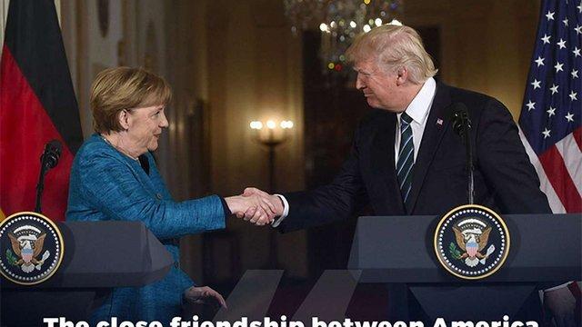 В адміністрації президента США пояснили, чому Трамп не потиснув руку Меркель
