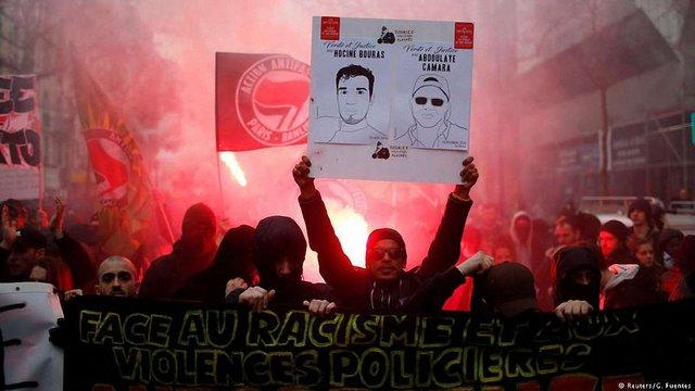 У Парижі сталися сутички демонстрантів з поліцією