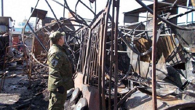 На Чернігівщині злодій випадково підпалив ринок, який збирався пограбувати