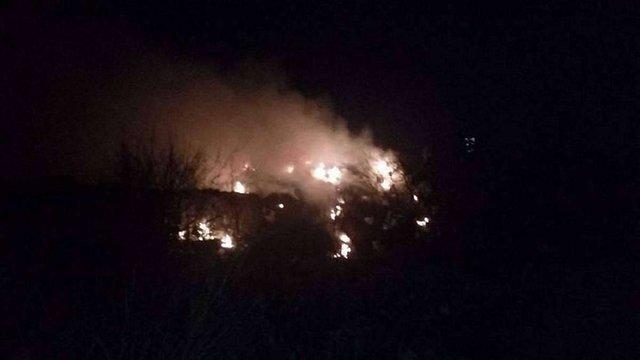 У Житомирі вночі підпалили міський полігон ТПВ