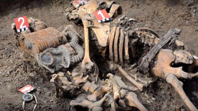 На будівництві у Золочеві знайшли людські останки часів війни