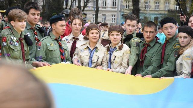 У Львові понад тисяча пластунів відсвяткували 105-ту річницю заснування Пласту