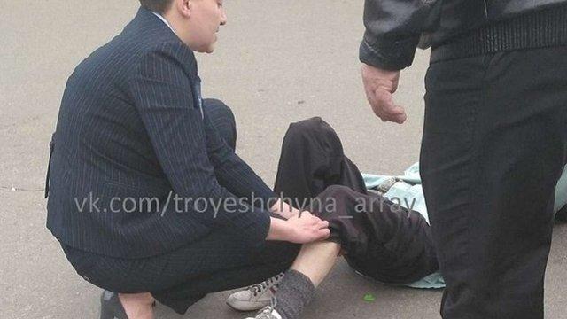 Автомобіль Надії Савченко збив пенсіонерку в Києві