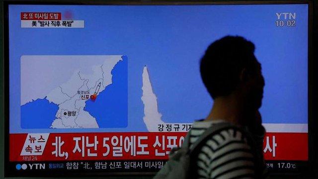 КНДР здійснила невдале випробування ракети невідомого типу