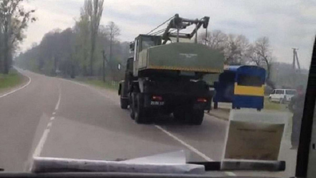 Унаслідок ДТП за участі військового крану на Львівщині госпіталізували 36-річного пішохода