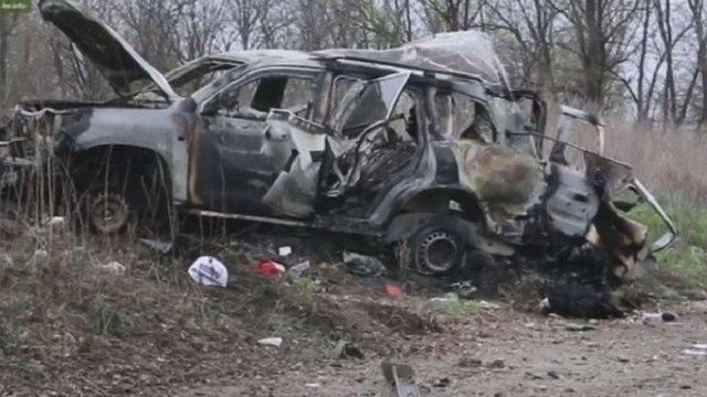 Терористи опублікували відео з місця підриву патруля місії ОБСЄ
