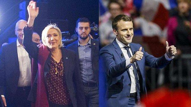 У першому турі виборів у Франції перемогли Макрон і Ле Пен, — екзіт-поли