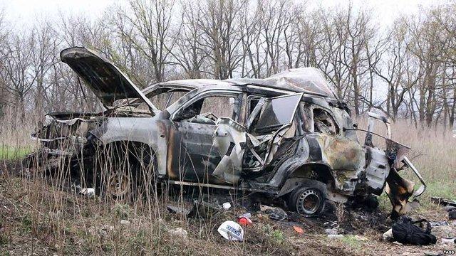 В мережу потрапило ексклюзивне відео вибуху автомобіля зі спостерігачами ОБСЄ