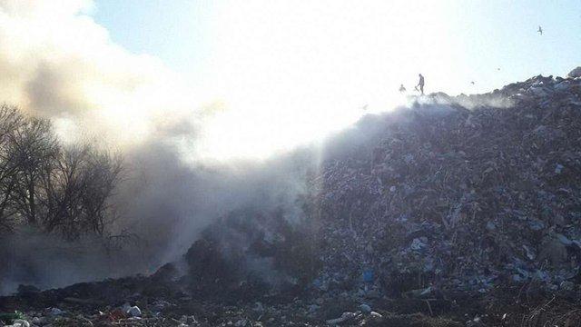 У Харкові горить міське сміттєзвалище