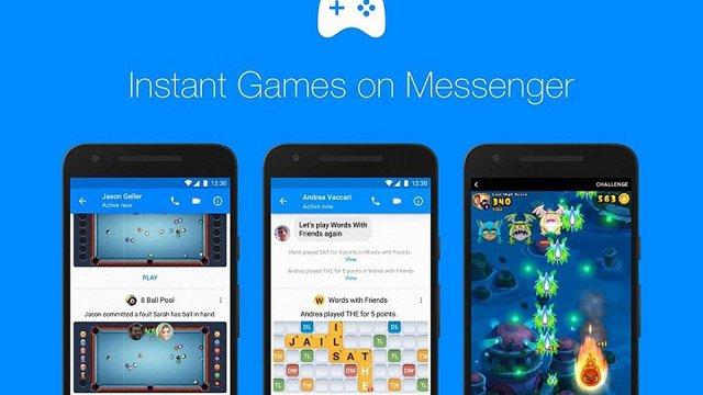 Facebook оголосив про запуск ігор у своєму месенджері