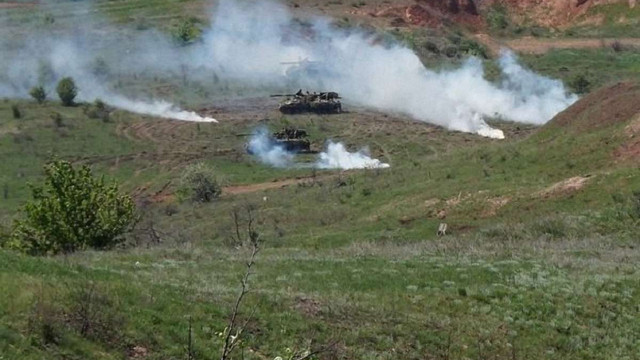 Артилеристи ЗСУ провели військові навчання у зоні АТО