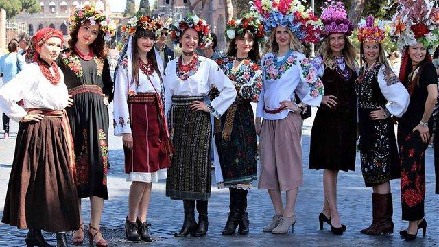 У Римі провели показ українських вишиванок