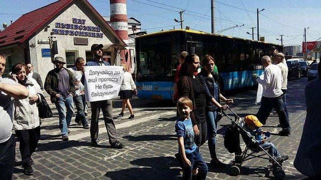У Львові активісти заблокували вул. Городоцьку, протестують проти забудови стадіону «Сільмаш»