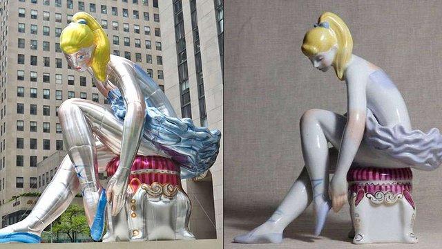 Художник Джеф Кунс зізнався, що зробив свою інсталяцію зі статуетки української художниці