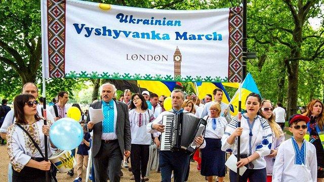 У Лондоні українці провели щорічний Марш вишиванок