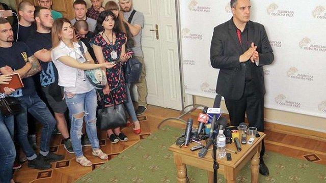 Ганущин заявив, що Львівська облрада не працюватиме в режимі ультиматумів