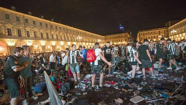 Більше 600 осіб постраждали в Турині у тисняві після матчу фіналу Ліги чемпіонів
