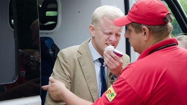 Голові «Центру протидії корупції» у Києві пирснули в обличчя з газового балончика