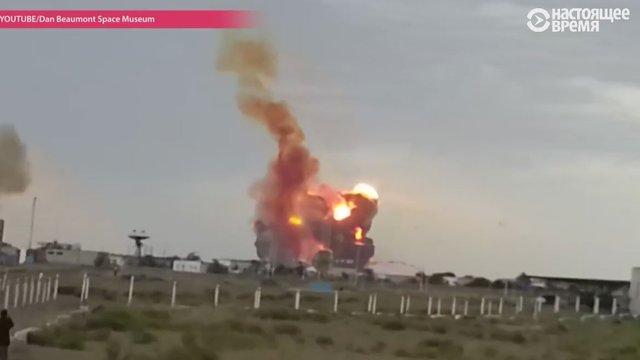 У пожежі після падіння російської ракети «Союз» в Казахстані постраждали люди