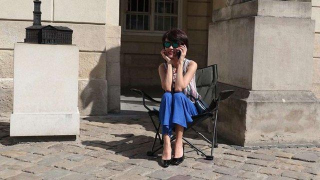 Речниця Синютки оголосила безстрокове голодування під Львівською міськрадою