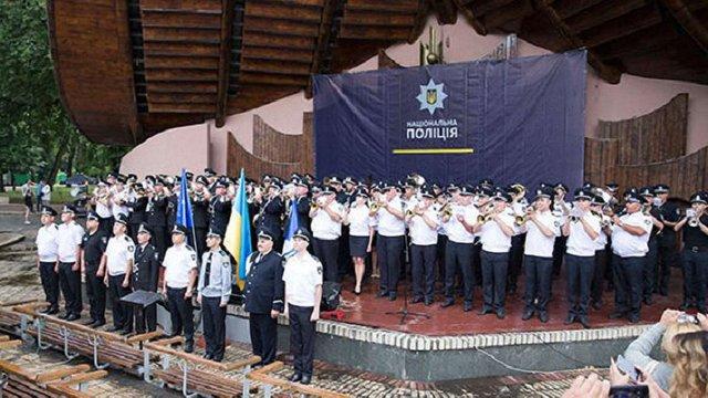 Оркестри Нацполіції встановили рекорд України з виконання Гімну Євросоюзу