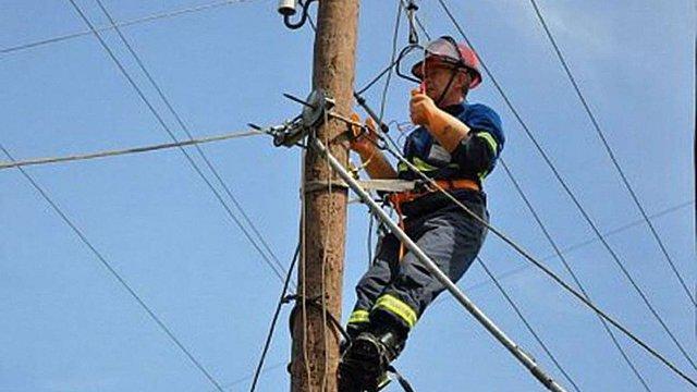 На Львівщині енергетики витратили майже ₴1млн на подолання наслідків негоди