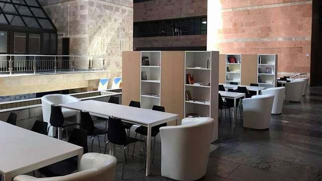 В приміщенні НСТУ облаштували майданчик для презентацій нових проектів суспільного ТБ
