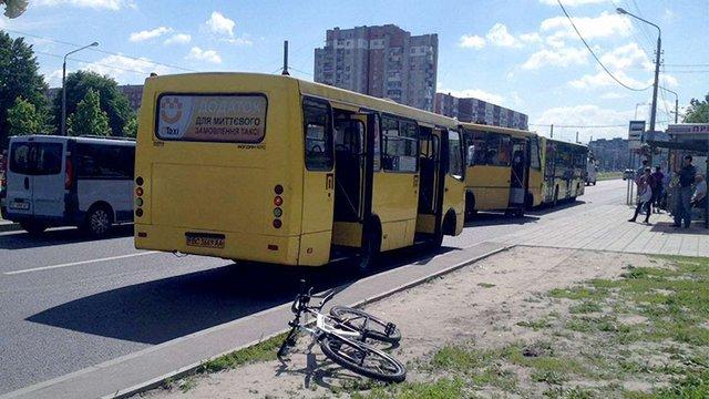 Львівський суд зробив усне зауваження велосипедистці за ДТП із маршруткою