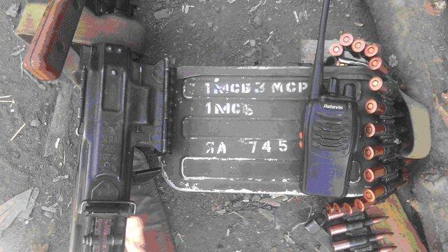 На Луганщині бійці ЗСУ захопили трофейну зброю і засоби зв'язку бойовиків