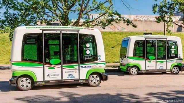 В Естонії запустили перші безпілотні автобуси