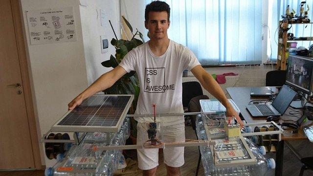 17-річний українець розробив робота, який може збирати сміття з річок