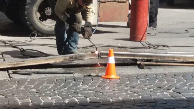 Через деформацію трамвайних колій на вул. Франка застосують технологію охолодження рейок