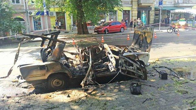 СБУ затримала диверсантів, які підірвали автомобіль в центрі Одеси