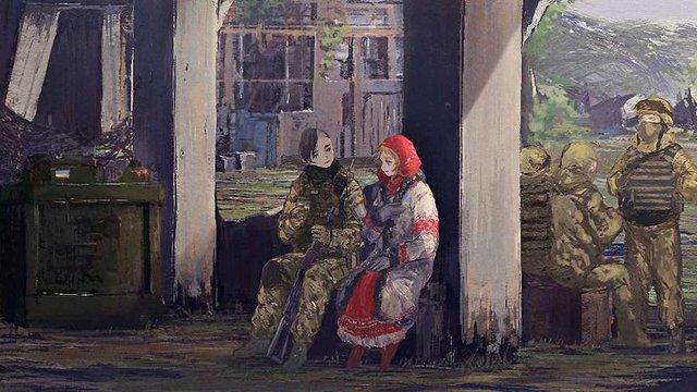 Японський художник малює аніме про війну на Донбасі