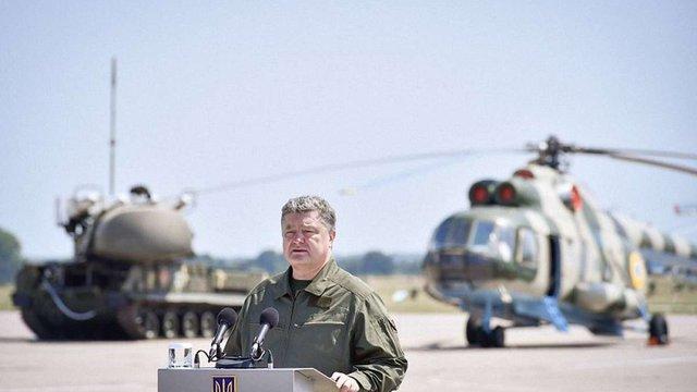 Петро Порошенко анонсував збільшення виплат військовим АТО