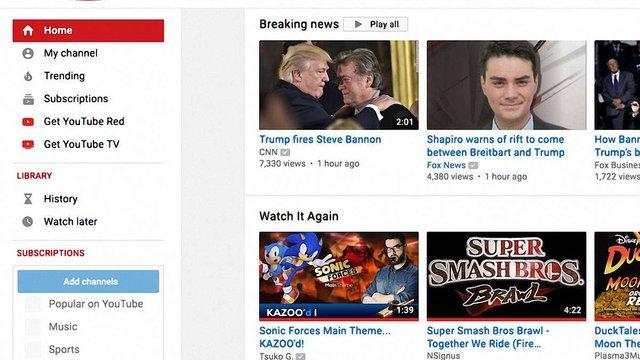 Google запроваджує розділ термінових новин на відеохостингу YouTube