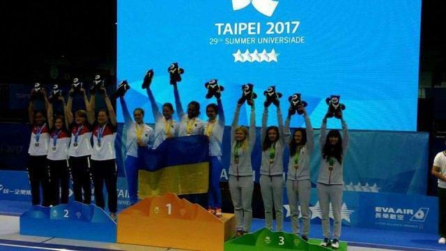 Українська жіноча команда з фехтування стала чемпіоном Універсіади