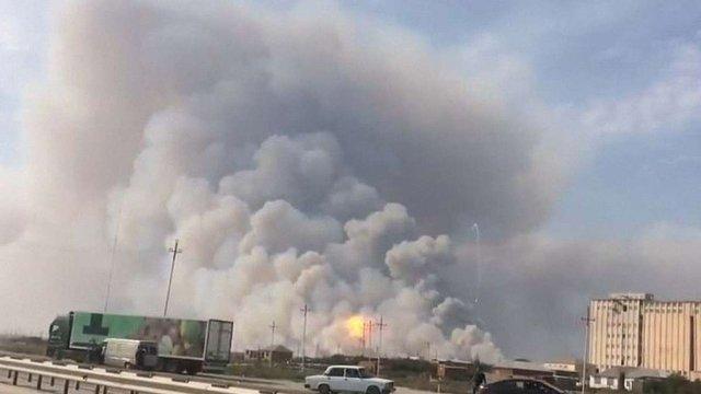 В Азербайджані стався потужний вибух на складі зброї, людей евакуюють з навколишніх міст